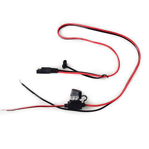 Cocar 12/24V 2.5 FT Auto SAE Schnelltrennadapter Stecker zu Verlängerung Direct Wire Rohe Kabel Adapter 15A Schwerlast Ladegerat Kupfer Draht für Solar Panel Autobatterie
