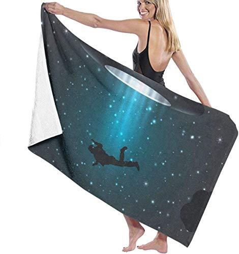 Ches UFO Unknown Alien Damen Spa Dusch- und Wickeltuch, Weiß, Siehe Abbildung, Einheitsgröße