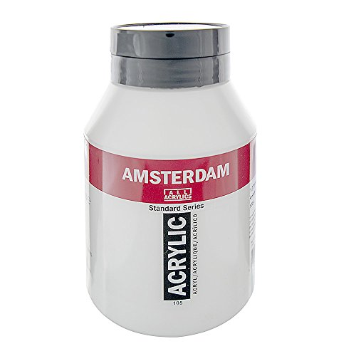 1LTR–Amsterdam pintura acrílica–titanio Blanco