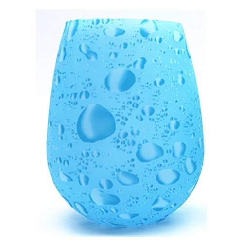 Anyiruo Copas de vino de silicona irrompibles, sin BPA, portátiles, impresas al aire libre, para viajes, picnic, piscina, barco, camping