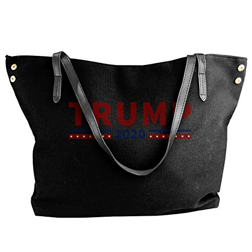 Trump 2020 I Women Style Canvas Large Tote Top Handle Bag Shopping Hobo Shoulder Bag, Large Size 18.1'' X 4.9'' X 12.99''