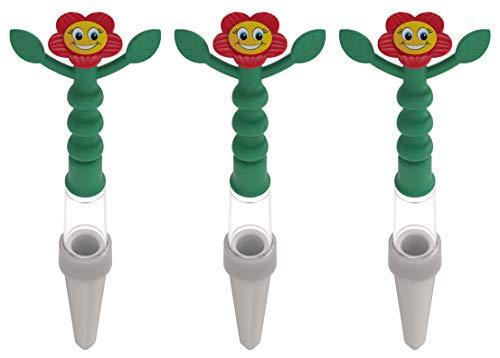 Heidi indicatore di irrigazione per tutte le piante in vaso, set di 3, rosso, senza batterie richieste, visibile da lontano