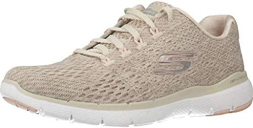 Skechers Sport Womens Flex Appeal 3.0 Satellites Sneakers Women Beige, Schuhgröße:37 EU