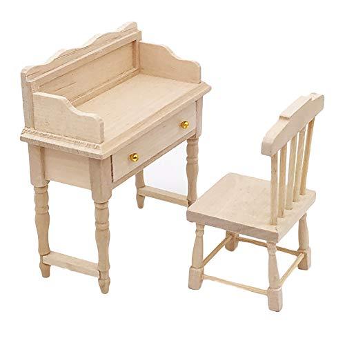 Foreen 1/12 Unpainted Wooden Mini Desk Table Furniture Doll House Accessory Pretend Play Kids Toy -  YRRZ8T8K155MTX7458HP67UPMA8B