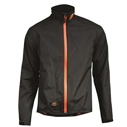 KTM Jacke Wind- und Regenjacke mit weichem Futter im Kragen, Schwarz, Winddicht & Wasserabweisend, Größe:XXXL