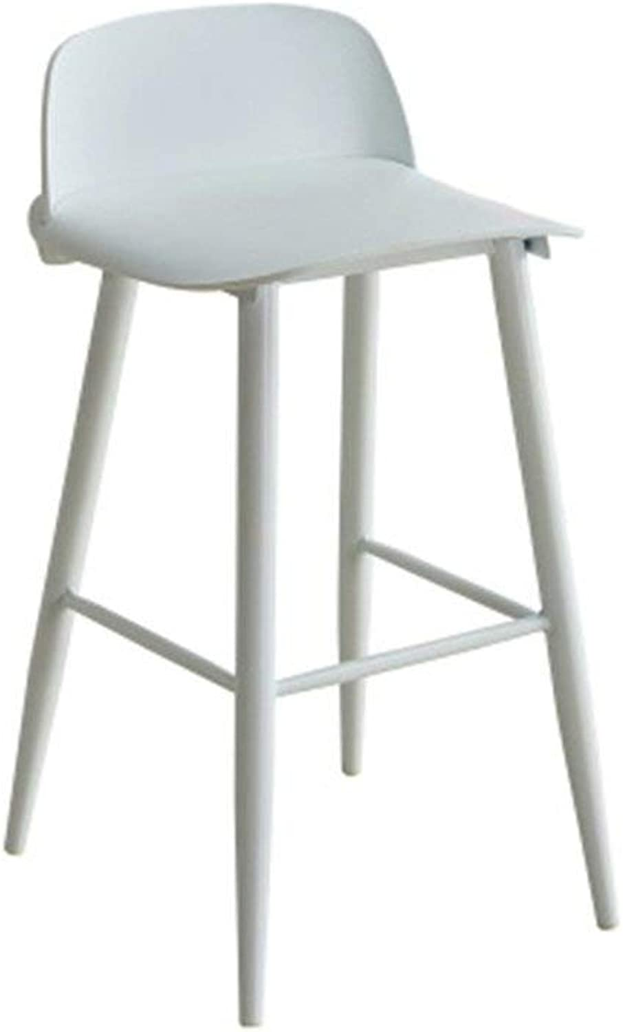 PP Fly Folding Stool Bar Chair High Chair Creative Coffee Shop Chair Bar Chair Home Bar Chair Seat HENGXIAO (color   White, Size   43  50  91CM)
