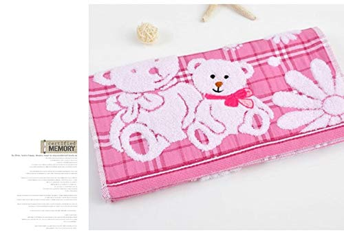 Tivivose De Puro Toalla del algodón del bebé Lindo de la Toalla Suave del bebé Cara de Dibujos Animados bebé Doble Gasa de Toallas Toallas (Color : Pink)