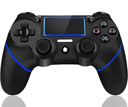 Maegoo Wireless Controller per PS4, Bluetooth Dualshock 4 Controller Gamepad Joypad Joystick per PS4 Slim/PS4 PRO con Doppia Vibrazione e 6-Axis Gyro Sensor, Touch Panel e Funzione Audio