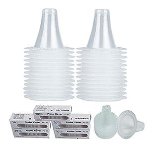 100 copri-sonda per termometro, tappi di ricarica, filtri per lenti Braun ThermoScan e altri tipi di termometri digitali, confezione da 100 pezzi