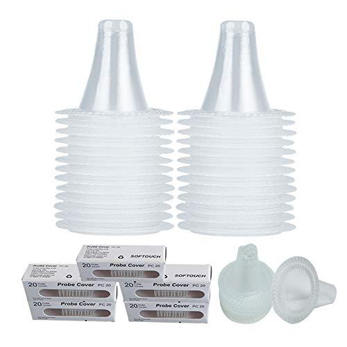 ENJSD 100 Ersatzschutzkappen für alle Braun ThermoScan-Modelle Ohrthermometer, Ohrthermometer-Sondenabdeckungen, und andere Arten von digitalen Thermometern (100 Stück)