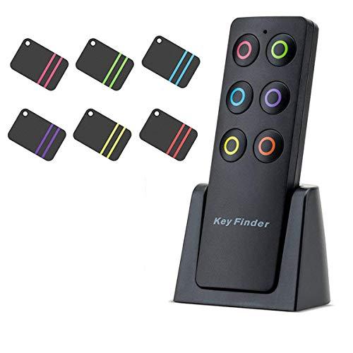 Kyerivs Trova-oggetti wireless, portachiavi, trasmettitore a radio frequenza con 6 ricevitori per borsa, animali domestici, telefono, valigia, piccoli oggetti