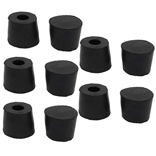 New Lon0167 34x40x36.5mm Mesa Destacados de goma Silla eficacia confiable con patas Cubiertas de pie Protector de piso Negro 10pcs(id:e5f 23 eb bc8)
