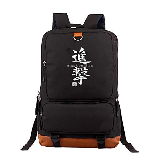 KIACIYA Mochila Anime Attack on Titan, Shingeki No Kyojin Scout Regiment Levi·Ackerman Cosplay Mochila Escolar Casual Estudiante Bolsa de Gran Capacidad Ordenador Portátil Backpack (B5)