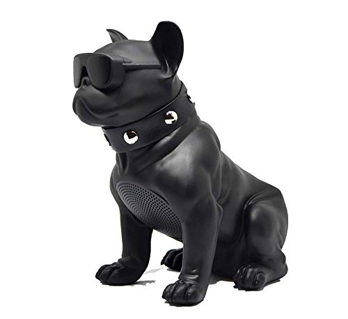 Altavoz Perro Bulldog Frances INALAMBRICO Bluetooth PORTÁTIL Altavoces Radio FM Radio USB TF MP3 Color Negro