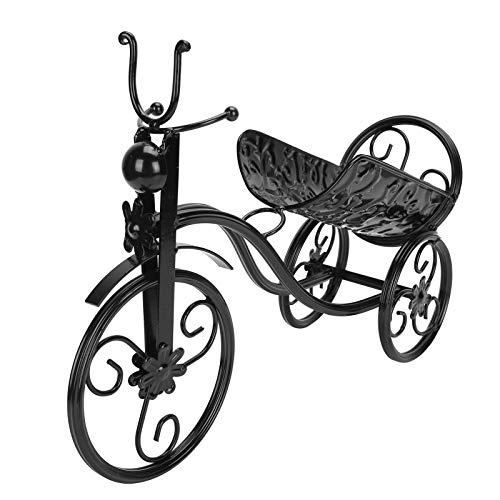 Omabeta Soporte para Vino, Hierro Decorativo, Soporte para Vino, Forma de Triciclo para mostrador, Comedor, gabinete, decoración del hogar(Black)