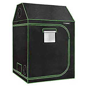 """VIVOSUN 48""""x48""""x72"""" Indoor Grow Tent, Roof Cube Tent with Observation Window and Floor Tray for Plant Growing"""
