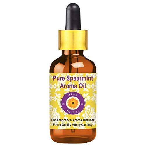Huile d'arôme Pure menthe pure de Deve Herbes (convient au diffuseur d'arôme) avec compte-gouttes en verre 100% de qualité thérapeutique 50ml (1,69 oz)