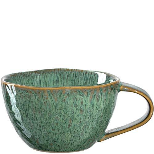 Leonardo Matera Kaffee-Tasse, 1 Stück, spülmaschinengeeignete Keramik-Tasse, 1 mikrowellenfester Becher, Tasse aus Steingut, grün, 290 ml, 018589