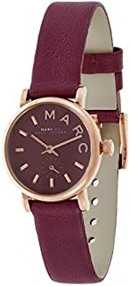 Marc by Marc Jacobs Women's Red Dial Leather Band Watch - MBM1271