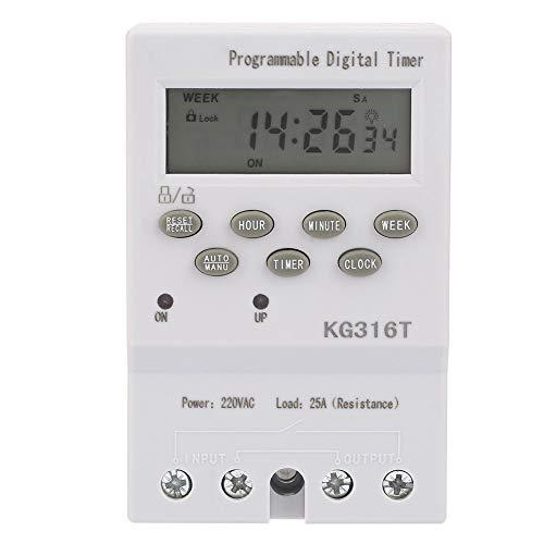 MLH timerschakelaar KG316T tijdschakelaar microcomputer 220 V automatische timer digitaal programmeerbaar hoge precisie