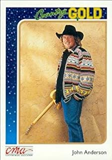 John Anderson trading card (Country Music) 1992 Sterling Country Gold #17