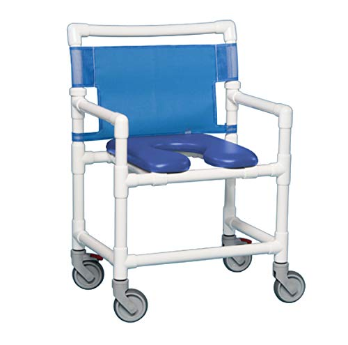 IPU VL OF9200 OS Oversize (Extra Wide) Rolling Shower Chair 400 LBS Capacity (Blue)