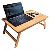 Laptop Desk Bed Tray Table Folding Low Table Bamboo Table Tea Coffee Folding Table Portable Picnic Desk Outdoor Activity Balcony Bay Window Table Working Reading Writing Eating COIWAI Nature Style