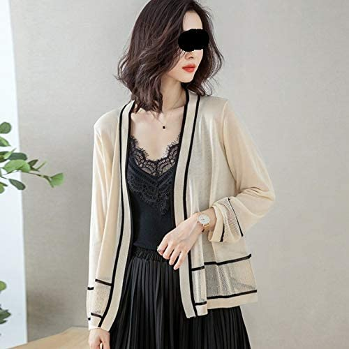 National products ZMMDD Ice A surprise price is realized Silk Knitted Cardigan Short Women's Outer Loose