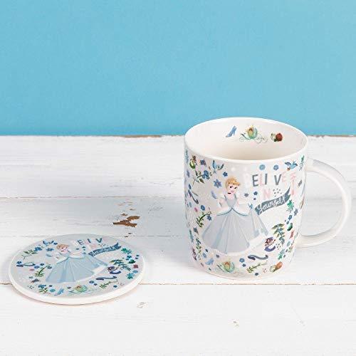 Disney Ensemble cadeau tasse et dessous-de-verre Cendrillon en céramique