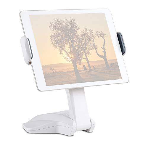 Zwbfu Escritorio Smartphone Soporte para Tableta Soporte 15.7cm-26cm Ancho Ajustable Rotación de 360 ° Compatible con 6P / 7P para transmisión en Vivo Video Chat en línea Ver programas de TV