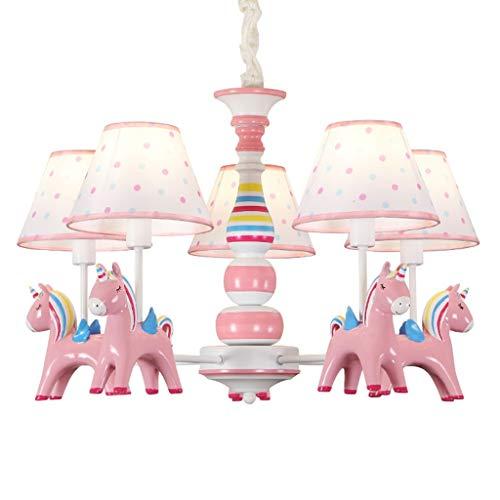 Hang- & hanglampen kinderkamerlamp jongens-meisjes-slaapkamer kroonluchter cartoon creatieve Pegasus lamp restaurant-decoratie-lamp