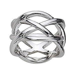 Schmuck-Pur Ausgefallener Damen-Design-Ring 925/- Silber