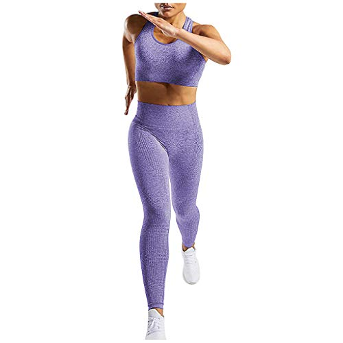 Best Deals! Missli Yoga Outfits for Women 2 Piece Set, Workout Crop Tank Top and High Waist Athletic...