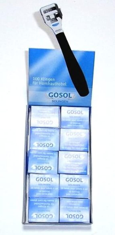 ふつうアジア人ガイダンスゲーゾル(独)GOSOL コーンカッター 魚の目切替刃10枚入りx10個