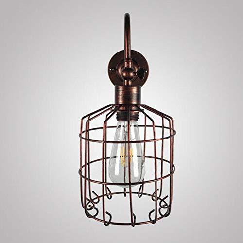 SXFYWYM Wandlamp, minimalistisch, industrieel retro, hal, slaapkamer, nachtkastje, piccolo, ijzeren wandlampen