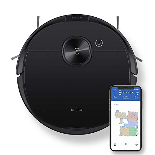 ECOVACS Deebot N8 Pro Robot Vacuum and Mop, Strong 2600Pa Suction, Laser Based LiDAR Navigation, Smart Obstacle Detection, Multi-Floor Mapping, Fully Customized Cleaning, Self Empty Station Compatible