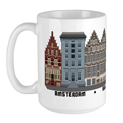 Amsterdam Holanda Taza de café grande, grande. Taza de café con leche