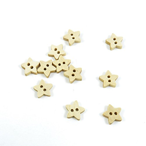 For Sale! 1840 Pieces Sewing Wood Buttons Sew On Arts Crafts Notions Supplies Fasteners QL057 Star N...