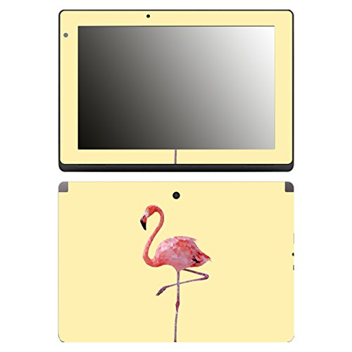 'Disagu SF 106491 _ 1092 Design Case Cover For Acer Aspire Switch 10E SW3/013/Flamingo Yellow Clear