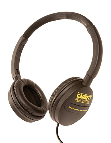 Garrett ClearSound Easy Stow Headphones with In-Line Volume for Metal Detectors