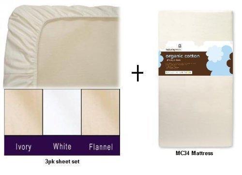 Great Deal! Naturepedic MC34 No Compromise Organic Cotton Classic Lightweight Dual Firmness Crib Mat...
