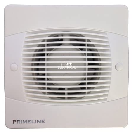 Newlec NL880PS Bathroom Axial Extractor Fan with Pull Switch and Shutters