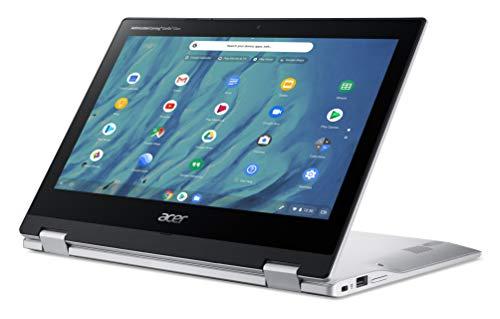 Acer Chromebook Spin 311 - Portátil táctil convertible 11.6' HD (MTK MT8183, 4GB RAM, 32GB eMMC, Mali-G72 MP3 Graphics, Chrome OS), Color Plata - teclado QWERTY español.