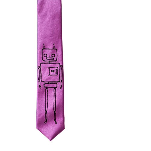 Robot Skinny Tie - Orchid