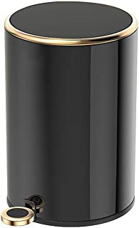 L x H x P Wenko 24009100 p/édale Leman Or Mat cosm/étique /: 17 x 25 x 22,5 cm Acier Inoxydable Dimensions Poubelle avec rev/êtement Anti-Empreintes de Doigts Capacit/é 3 l