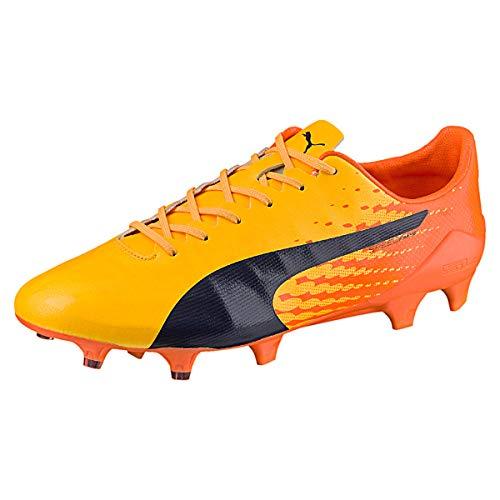 PUMA Herren Evospeed 17 SL S FG Fußballschuhe, Gelb Ultra Yellow Peacoat Orange Clown Fish 04, 46.5 EU
