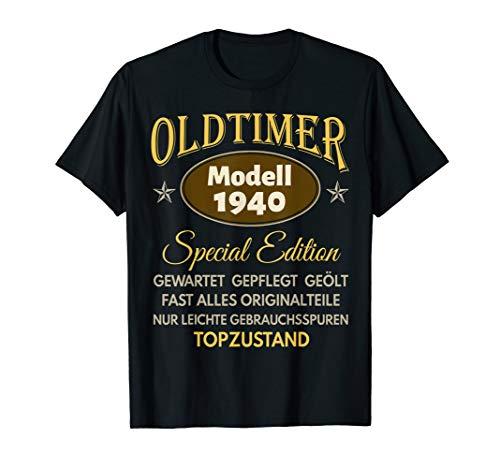 80. Geburtstag Mann Frau Geschenk Oldtimer Jahrgang 1940 T-Shirt