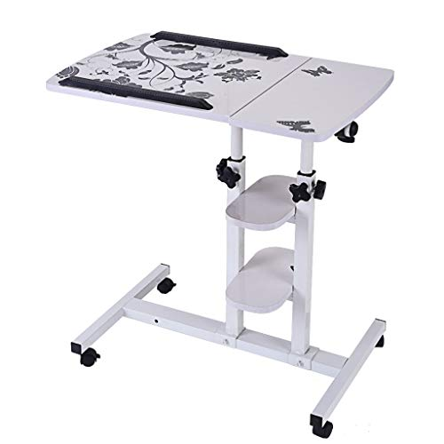 Ydida Computer Ergonomics Design Desk Multi-Function Small Desk Household Freely Lifted and Rotated Folding 64cm40cm Standing Desk