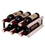MCKEYEN Estante De Vino De Madera para Encimera, Organizador De Almacenamiento De Exhibición De Botellas De Vino Extraíble, para El Hogar, Cocina, Bar, Gabinetes De Mesa,3x2