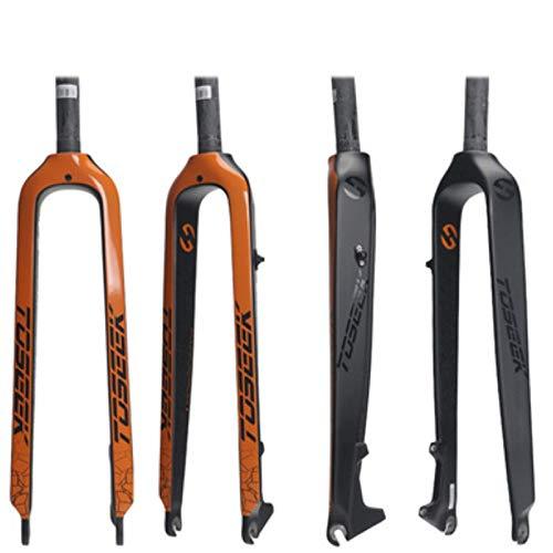 Sonwaohand Ultra Light Alle Carbon Forks Fiets Harde Vork Schijfrem 26 Inch 27.5 Inch 29 Inch Mountainbike Volledige Carbon Vork Rechte Hoofd Buis